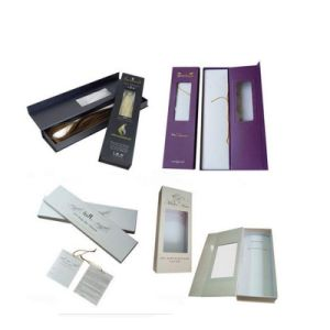 Hair Extension Packaging Box with PVC Window pictures & photos