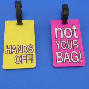 Customized Hand off PVC 3D Luggage Tag pictures & photos