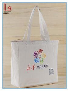 Custom Cheap Cotton Canvas Portable Advertising Gift Shopping Bag pictures & photos