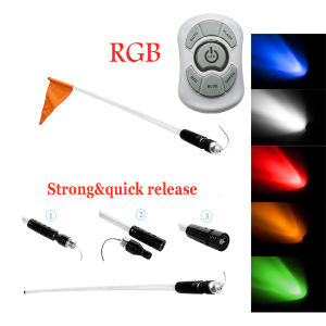 12V RGB Whips LED Light with Fiber Optic Pole Atu UTV Trucks Yellow White LED Antenna Whip Sand Car pictures & photos