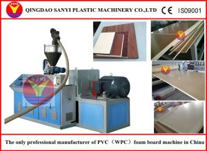 Plastic Machine-WPC Plastic Foam Board Extrusion Line pictures & photos