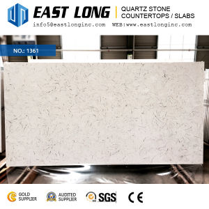 Hot Sale Carrara Polished Surface Quartz Stone for Engineered/Kitchentop/Wall Panel with Building Material pictures & photos
