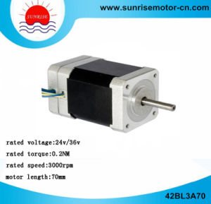 42bl3a70 Electric Motor DC Motor 24V/36V 64W 0.2nm DC Motor BLDC Motor pictures & photos
