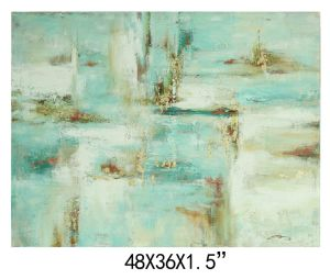 New Arrival Handmade Canvas Abstract Oil Painting (LH-M170501) pictures & photos
