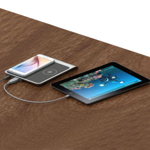 Wireless Charger Pad with 2 Coils for iPhone 8 and Samsung Charging Together pictures & photos