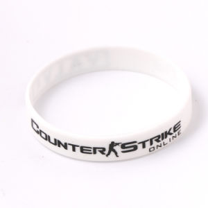 2017 New Style Silicone Material Silkscreen Printing Wristband pictures & photos