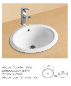 Above Counter Ceramic Wash Sinks, Above Mounting Ceramic Basin pictures & photos