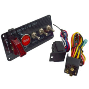 Switch Panel Engine Start Button LED Toggle Carbon Racing Car 12V Ignition pictures & photos