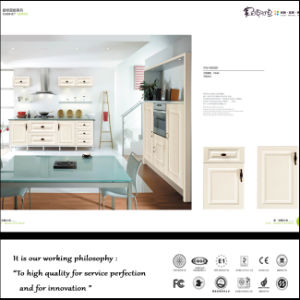 Classical Style White PVC Kitchen Cabinet (ZH524) pictures & photos