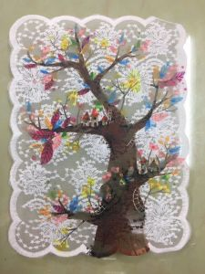 New Popular Embroidery Milk Silk Mesh Printing Lace Design pictures & photos