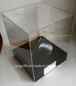 Clear Acrylic Model Lego Display Case with Black Base pictures & photos