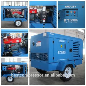 High Quality Portable Diesel Compressor 45kw 7bar pictures & photos