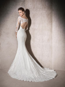 New Style 2018 3/4 Sleeves Lace Mermaid Wedding Dress M2017102 pictures & photos