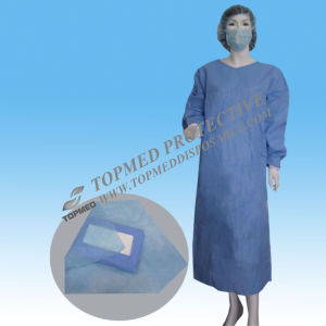 Disposable Nonwoven Isolation Gown Green Hospital Gown for Workers pictures & photos