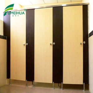 Decorative HPL Laminate Cubicle Toilet Partition with Nylon Accessories pictures & photos