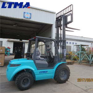 Best Standard 3 Ton Small All Terrain Forklift Price pictures & photos