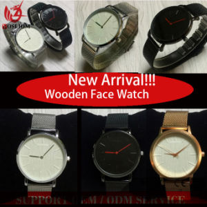 2017 Custom Logo Wooden Face Design Man and Lady Vogue Watches pictures & photos