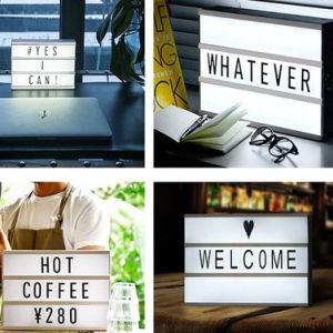 A4 USB Rechargeable DIY Letter Decoration LED Light Box pictures & photos
