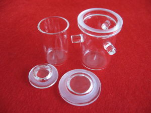 Clear Melting Quartz Crucibles with Supports pictures & photos