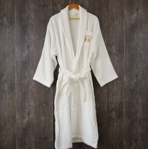 Customer Cotton White Hotel Bath Robe pictures & photos