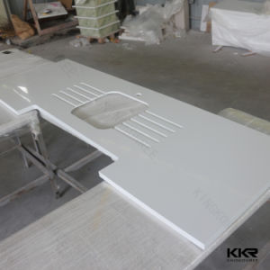 Kingkonree China Polished Carrara White Quartz Stone Vanity Top (C171130) pictures & photos