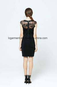 Best Price Fashion Slim Fit Office Dress Black Lace for Ladies pictures & photos