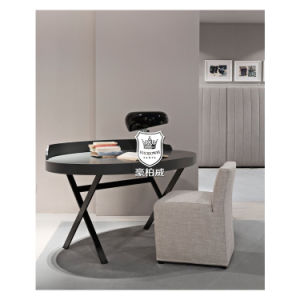 Italy Modern Hotel Writing Desk Bedroom with Cross Metal Legs pictures & photos