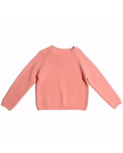 Wholesale Pink Knitted 100%Wool Kids Sweaters for Girls pictures & photos