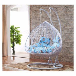 Modern Leisure Furniture Metal Wicker Hanging Chair Round Rattan (J829) pictures & photos