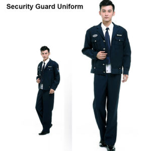 Three-Piece OEM Service Security Guard Uniforms of 35%Cotton and 65%Polyester pictures & photos