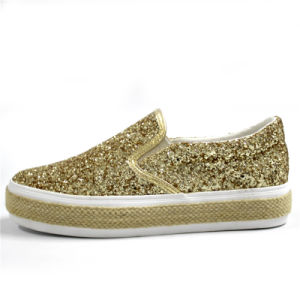 2017 New Style Glitter Shoes with Flat Rope Platform/Elastic Belt pictures & photos