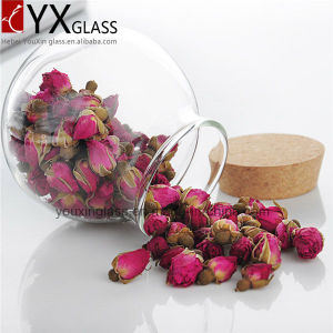 500ml High Quality Glass Sealed Cans Collection Storage Tank Large Moss Bottle Glass Jar with Wood Lid Hermetic Pot pictures & photos
