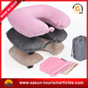 Disposable Airline Inflatable Camping Pillow pictures & photos