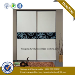 Bedroom Closet Wooden Sliding Door Wardrobe (HX-LC2242) pictures & photos