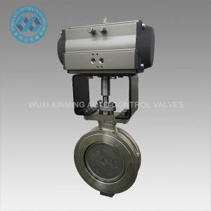 Pneumatic Metal Hard Sealed Stainless Steel Butterfly Valve pictures & photos