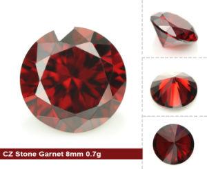 Top Quality Machine Cut CZ Garnet 7A Loose Round Shape Cubic Zirconia Stones pictures & photos