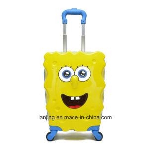 "17"" Inch Children Luggage ABS Spongebob Cartoon Luggage pictures & photos"