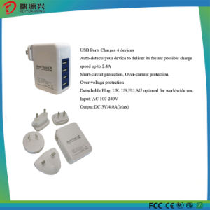 4 Port USB Travel Charger with Au EU Us UK Plug pictures & photos