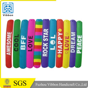 Custom Cheap Logo Silicone Slap Rubber Bands pictures & photos