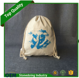 Custom Logo Printed Cloth Drawstring Canvas Cotton Bag pictures & photos