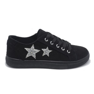 Fashion Double Stars Injection Leisure Popular Rubber Student Women Shoes pictures & photos