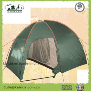 3 Person Double Layer Camping Tent with Living Room pictures & photos