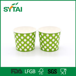 Colorful DOT Printing Disposable Single Wall Ice Cream Paper Cup pictures & photos