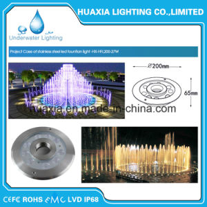 27watt Stainless Steel LED Underwater Fountain Nozzle Light pictures & photos