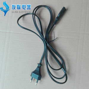 Korea Standard 2 Pin Plug Kc AC Power Cord Plug with IEC C7 Extension Power Cord pictures & photos