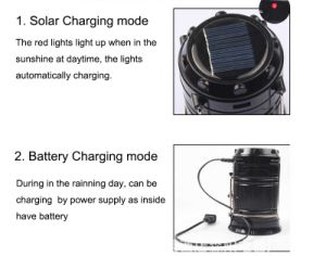 5W Multifunctional Solar LED Camping Light pictures & photos