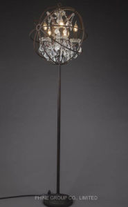 European Modern Metal Hotel & Home Floor Light with Crystal pictures & photos