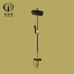 Brass Body Zinc Handle with Black Painted and Gold Finished Shower Mixer Odn-67013 pictures & photos