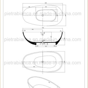Cheap Composite Stone Solid Surface Bathtub (PB1050N) pictures & photos