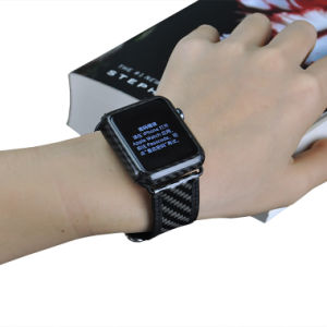 2016 Carbon Fiber Genuine Leather Watch Strap,  Leather Watch Band,  Watch Strap for Apple Watch pictures & photos
